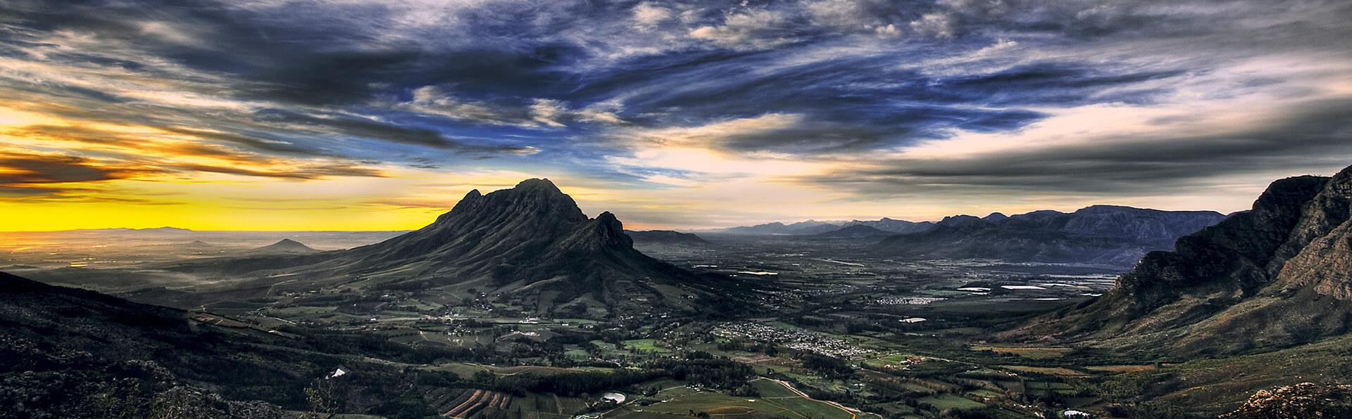 Stellenbosch Wine Routes Stellenbosch landscape - Image credit Dom Wills